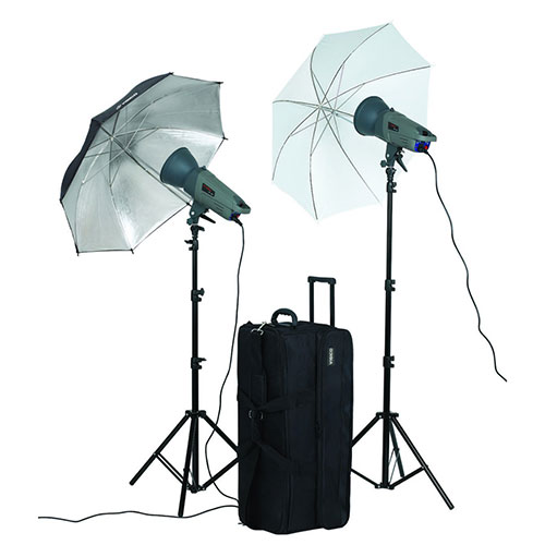 Alquiler Flashes De Estudio Visico VE 300PLUS Umbrella kit Rental Buenos Aires Argentina